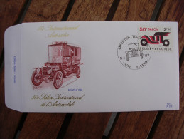 OCB Nr 1568 Auto Salon Automobile Centrale Stempel Seraing Fondu 1906  - FDC - 1971-80