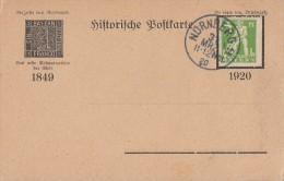 Bayern Historische Postkarte Trauer-Anzeige EF Minr.178 Nürnberg 31.3.1920 - Bayern