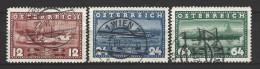 """Österreich - ANK-Nr. 639 - 641 - 100. Jahrestag Der Erstfahrt Wien-Linz Der """"Maria Anna"""" Gestempelt (10) - 1918-1945 1ère République"""