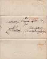 Brief Doppelverwendung Heidelberg 4.2.1845 (rot) Und L1 Neckarbischofsheim Selten !!!!!!! - Deutschland