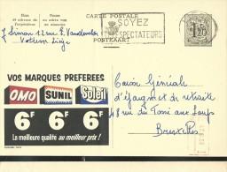 Publibel Obl. 1410 ( Vos Marques Preferes OMO; SUNIL; SOLEIL) Obl: Liège 06/06/1956 - Publibels