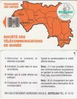 GUINEA - Orange Map 150 Units(reverse C, No CN), Used - Guinea