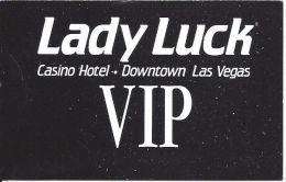 Lady Luck Casino Las Vegas, NV - Paper VIP Card - Casino Cards