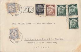 DR Brief Nachporto Mif Minr.512,565,3x 566 Berlin 2.5.35 Gel. Nach Holland Devisenkontrolle - Deutschland