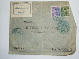 EGYPT 1930`S AIR MAIL COVER ALEXANDRIA TO LIVERPOOL WITH WRITTEN IN GERMAN STICKER - Zonder Classificatie