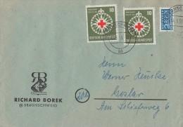 Bund Brief Mef Minr.2x 164 Braunschweig 11.5.53 - BRD