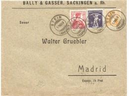 Schweiz, Brief,  Stein 17. 8. 09 Nach Madrid, Zu 105, 118, 120, Mischfrankatur, Siehe Scans! - Switzerland