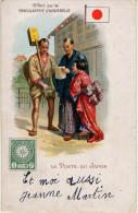 LA POSTE AU JAPON - CPA - Chocolaterie D'AIGNEBELLE - Postal Services