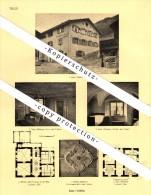 Photographien / Ansichten , 1925 , Luzein , Küblis , Saas , Prospekt , Architektur , Fotos !!! - GR Grisons