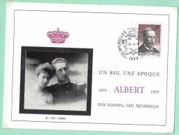 Albert Ier   9/4/75 1er Jour   AS0032 - Feuillets De Luxe