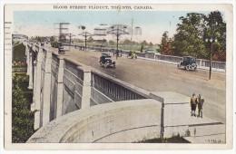 Toronto Ontario, Bloor Street Viaduct - Old Cars - C1927 ON Canada Vintage Postcard [8684] - Toronto