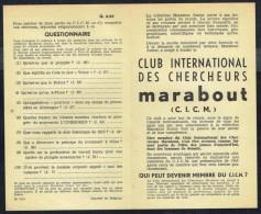 Supplément - Questionnaire  C.I.C.M. N° 6 Du MJ N° 61 . - Marabout Junior