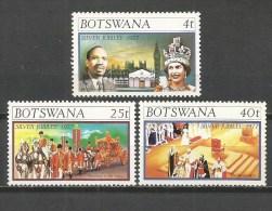 BOTSWANA YVERT NUM. 331/333 ** SERIE COMPLETA SIN FIJASELLOS - Botswana (1966-...)