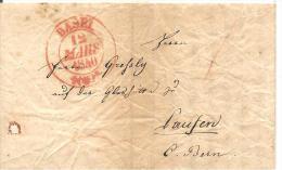 Schweiz, Vorphila, Basel 1840 Nach Laufen, Siehe Scans! - Switzerland