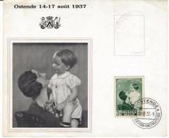 Reine Astrid Et Prince Baudouin 14/8/37   AS0035 - Feuillets De Luxe