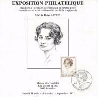Reine Astrid  31/8/85   AS0036 - Feuillets De Luxe