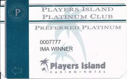 Players Island Casino Preferred Platinum Sticker - Casino Cards