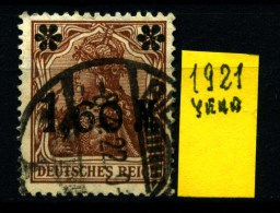 GERMANIA - DEUTSCHES REICH - Year 1921 - UsatI - Used. - Usati
