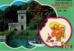 "TORRE  DEL  LAGO  PUCCINI   "" ADAM  EVE ""   (VIAGGIATA) - Italia"