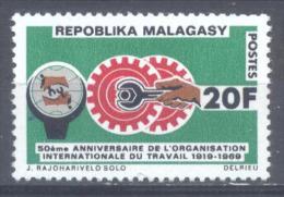 Madagascar YT N°461 Organisation Internationale Du Travail Neuf ** - Madagascar (1960-...)