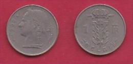 BELGIUM, 1950, 2 Circulated Coins Of 1 Franc, Dutch, Copper Nickel, KM 143.1,  C3100 - 1945-1951: Regency