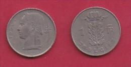 BELGIUM, 1951, 2 Circulated Coins Of 1 Franc, Dutch, Copper Nickel, KM 143.1,  C3101 - 04. 1 Franc
