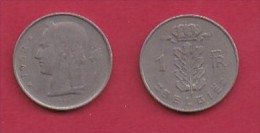 BELGIUM, 1952, 2 Circulated Coins Of 1 Franc, Dutch, Copper Nickel, KM 143.1,  C3102 - 1951-1993: Boudewijn I