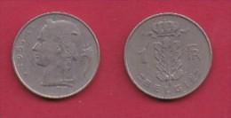 BELGIUM, 1956, 2 Circulated Coins Of 1 Franc, Dutch, Copper Nickel, KM 143.1,  C3105 - 1951-1993: Baudouin I