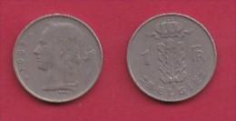 BELGIUM, 1958, 2 Circulated Coins Of 1 Franc, Dutch, Copper Nickel, KM 143.1,  C3107 - 1951-1993: Baudouin I