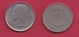 BELGIUM, 1964, 2 Circulated Coins Of 1 Franc, Dutch, Copper Nickel, KM 143.1,  C3110 - 04. 1 Franc