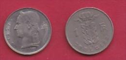BELGIUM, 1967, 2 Circulated Coins Of 1 Franc, Dutch, Copper Nickel, KM 143.1,  C3111 - 1951-1993: Boudewijn I