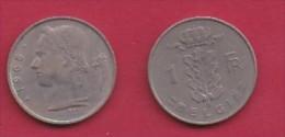 BELGIUM, 1968, 2 Circulated Coins Of 1 Franc, Dutch, Copper Nickel, KM 143.1,  C3112 - 1951-1993: Boudewijn I