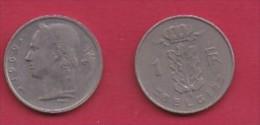 BELGIUM, 1969, 2 Circulated Coins Of 1 Franc, Dutch, Copper Nickel, KM 143.1,  C3113 - 1951-1993: Boudewijn I