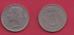 BELGIUM, 1969, 2 Circulated Coins Of 1 Franc, Dutch, Copper Nickel, KM 143.1,  C3113 - 04. 1 Franc