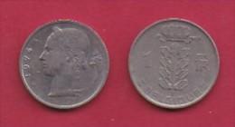 BELGIUM, 1974, 2 Circulated Coins Of 1 Franc, Dutch, Copper Nickel, KM 143.1,  C3117a - 1951-1993: Baudouin I