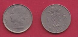 BELGIUM, 1975, 2 Circulated Coins Of 1 Franc, Dutch, Copper Nickel, KM 143.1,  C3118 - 04. 1 Franc