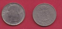 BELGIUM, 1976, 2 Circulated Coins Of 1 Franc, Dutch, Copper Nickel, KM 143.1,  C3119 - 04. 1 Franc