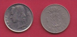 BELGIUM, 1977, 2 Circulated Coins Of 1 Franc, Dutch, Copper Nickel, KM 143.1,  C3120 - 04. 1 Franc
