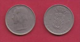 BELGIUM, 1952, 2 Circulated Coins Of 1 Franc, French, Copper Nickel, KM 142.1,  C3141 - 1951-1993: Boudewijn I