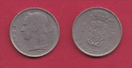 BELGIUM, 1958, 2 Circulated Coins Of 1 Franc, French, Copper Nickel, KM 142.1,  C3144 - 1951-1993: Boudewijn I
