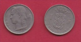 BELGIUM, 1969, 2 Circulated Coins Of 1 Franc, French, Copper Nickel, KM 142.1,  C3149 - 1951-1993: Boudewijn I