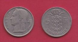 BELGIUM, 1950, 2 Circulated Coins Of 5 Francs, Dutch, Copper Nickel, KM 135.1,  C3125 - 1951-1993: Baudouin I