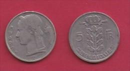 BELGIUM, 1962, 2 Circulated Coins Of 5 Francs, Dutch, Copper Nickel, KM 135.1,  C3128 - 1951-1993: Baudouin I
