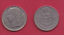 BELGIUM, 1965, 2 Circulated Coins Of 5 Francs, Dutch, Copper Nickel, KM 135.1,  C3131 - 1951-1993: Baudouin I