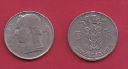 BELGIUM, 1967, 2 Circulated Coins Of 5 Francs, Dutch, Copper Nickel, KM 135.1,  C3133 - 1951-1993: Baudouin I