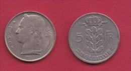 BELGIUM, 1973, 2 Circulated Coins Of 5 Francs, Dutch, Copper Nickel, KM 135.1,  C3135 - 1951-1993: Boudewijn I