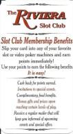 Riviera Casino Black Hawk CO Slot Club Rules Card - Casino Cards