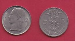 BELGIUM, 1975, 2 Circulated Coins Of 5 Francs, Dutch, Copper Nickel, KM 135.1,  C3137 - 1951-1993: Baudouin I