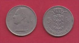 BELGIUM, 1949, 2 Circulated Coins Of 5 Francs, Dutch, Copper Nickel, KM 135.1,  C3124 - 1951-1993: Baudouin I