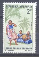 Madagascar YT N°443 Danse Du Bilo Sakalava Neuf ** - Madagascar (1960-...)